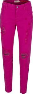 Różowe jeansy Met z bawełny