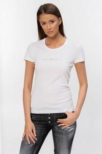 T-shirt Emporio Armani z krótkim rękawem z okrągłym dekoltem w stylu casual