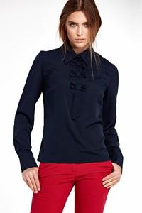 Granatowa bluzka NIFE z długim rękawem
