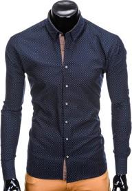 Granatowa koszula ombre clothing z długim rękawem