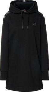 Czarna sukienka Plein Sport mini z dekoltem w kształcie litery v
