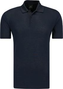 Czarna koszulka polo Armani Jeans z krótkim rękawem