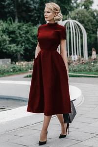 690c20dbc3 Czerwona sukienka Ivet.pl midi