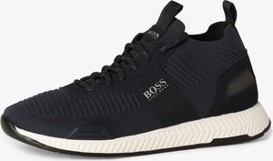 Buty sportowe Boss Athleisure z tkaniny sznurowane