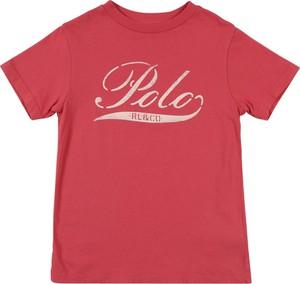Czerwona koszulka dziecięca POLO RALPH LAUREN z dżerseju