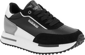 Czarne buty sportowe Napapijri sznurowane