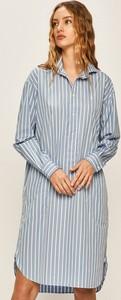 Sukienka POLO RALPH LAUREN koszulowa z bawełny z długim rękawem