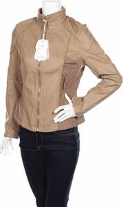 Brązowa kurtka Resplendent ze skóry w stylu casual