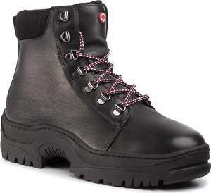 Buty zimowe Nobrand sznurowane