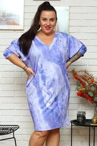 Niebieska sukienka KARKO z bawełny