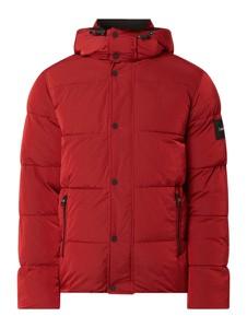 Czerwona kurtka Calvin Klein krótka w młodzieżowym stylu