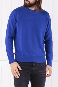Niebieski sweter Calvin Klein z wełny w stylu casual