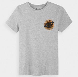 Koszulka dziecięca 4F z bawełny dla chłopców z krótkim rękawem