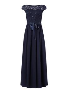 Sukienka Swing z krótkim rękawem z szyfonu maxi