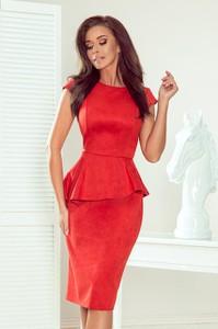Sukienka NUMOCO asymetryczna midi z zamszu