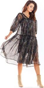 Sukienka Awama z szyfonu