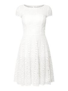 Sukienka Marie Noir mini z okrągłym dekoltem z bawełny