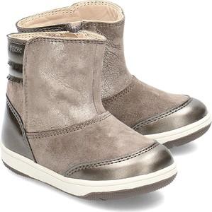 Buty dziecięce zimowe Geox z zamszu na zamek