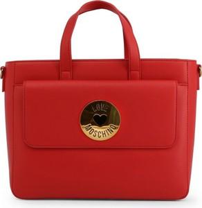 Czerwona torebka Love Moschino ze skóry