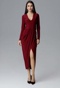 68ce461c29 bordowa długa sukienka - stylowo i modnie z Allani