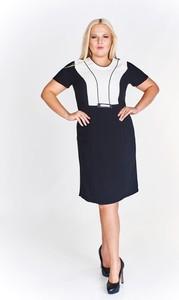 Sukienka Fokus z krótkim rękawem z dekoltem w kształcie litery v midi