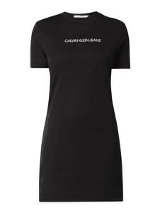 Sukienka Calvin Klein koszulowa z krótkim rękawem w stylu casual