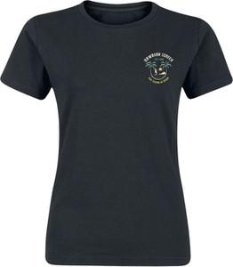 Granatowy t-shirt Emp z krótkim rękawem