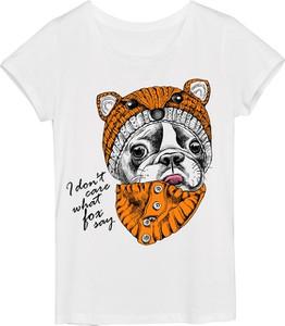 T-shirt Time For Fashion z okrągłym dekoltem z krótkim rękawem w młodzieżowym stylu