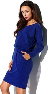 Niebieska sukienka Lemoniade mini z okrągłym dekoltem w stylu casual