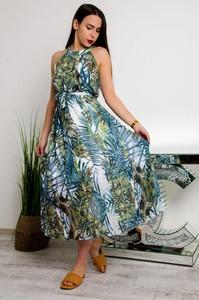 Sukienka Olika z okrągłym dekoltem maxi bez rękawów