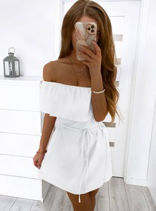 Sukienka Pakuten z krótkim rękawem hiszpanka mini