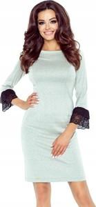 Sukienka Inna mini prosta z długim rękawem