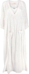 Sukienka Mes Demoiselles z długim rękawem z dekoltem w kształcie litery v w stylu casual