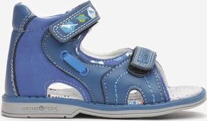 Buty dziecięce letnie Multu na rzepy ze skóry