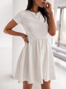 Sukienka SELFIEROOM z krótkim rękawem mini z bawełny