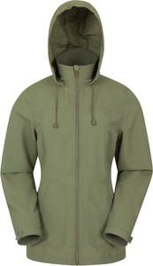 Zielona kurtka Mountain Warehouse w stylu casual krótka z tkaniny