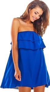 Niebieska sukienka Awama w stylu casual