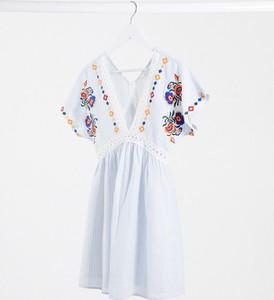 Niebieska sukienka En Crème mini
