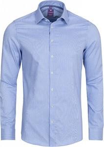 Niebieska koszula Redmond z długim rękawem