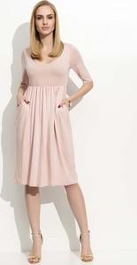 Sukienka Makadamia z krótkim rękawem