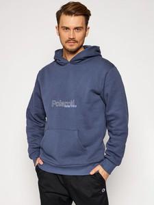Niebieska bluza LOCAL HEROES z bawełny w młodzieżowym stylu