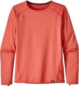 Czerwona koszulka dziecięca Patagonia z dżerseju