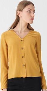 Żółta bluzka House z długim rękawem
