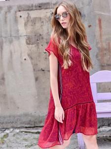 Czerwona sukienka Larime