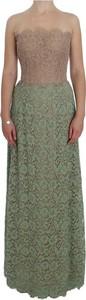 Zielona sukienka Dolce & Gabbana gorsetowa z bawełny