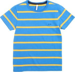 Niebieska koszulka dziecięca Sun 68 w paseczki
