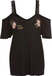 Bonprix bodyflirt shirt z koronką i haftem