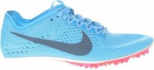 Niebieskie buty sportowe Nike z płaską podeszwą w sportowym stylu sznurowane