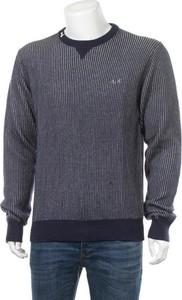 Niebieski sweter Sun68 w stylu casual z okrągłym dekoltem