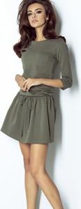 Zielona sukienka Ivon z tkaniny